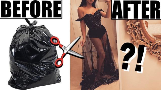 画像: MAKING A DRESS OUT OF TRASH BAGS! www.youtube.com