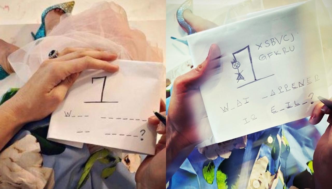 画像: ブレイクが出題した穴埋めクイズ。©Blake Lively/ Instagram