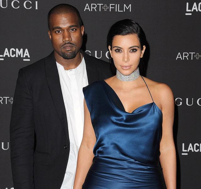 画像: カニエと妻のキム。