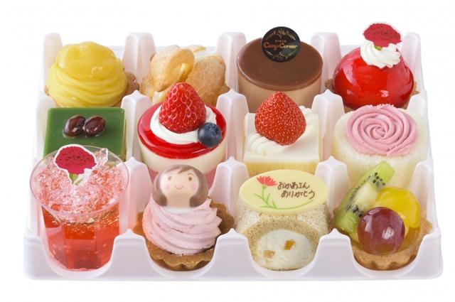 画像1: コージーコーナー、華やかなプチケーキセットなど「母の日」限定スイーツを発売