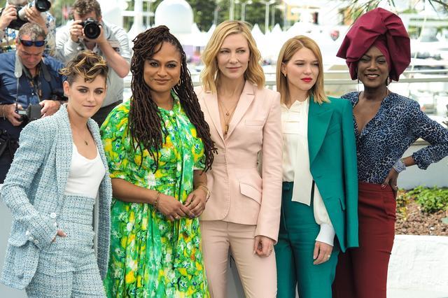 画像: 同じく審査員を務める映画監督のエイヴァ・デュヴァーネイ、女優のケイト・ブランシェット、レア・セドゥ、シンガーのカジャ・ニンと。