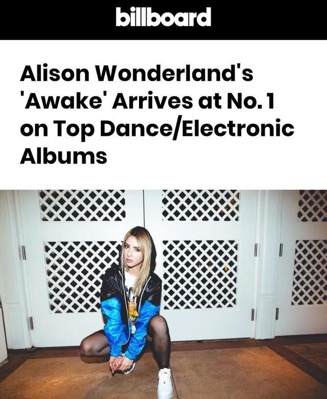 画像1: Alison WonderlandさんはInstagramを利用しています:「OH MY GOD AWAKE DEBUTS AT #1  NUMBER. ONE.  thank u guys u have my whole heart」 www.instagram.com