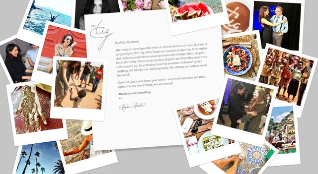 画像: メーガンから読者への感謝が綴られた最後のメッセージ。サイト自体は閉鎖されていない。©The Tig thetig.com