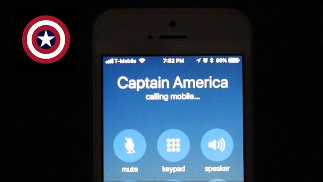 画像: Calling Captain Americas Phone Number From Avengers Infinity War www.youtube.com