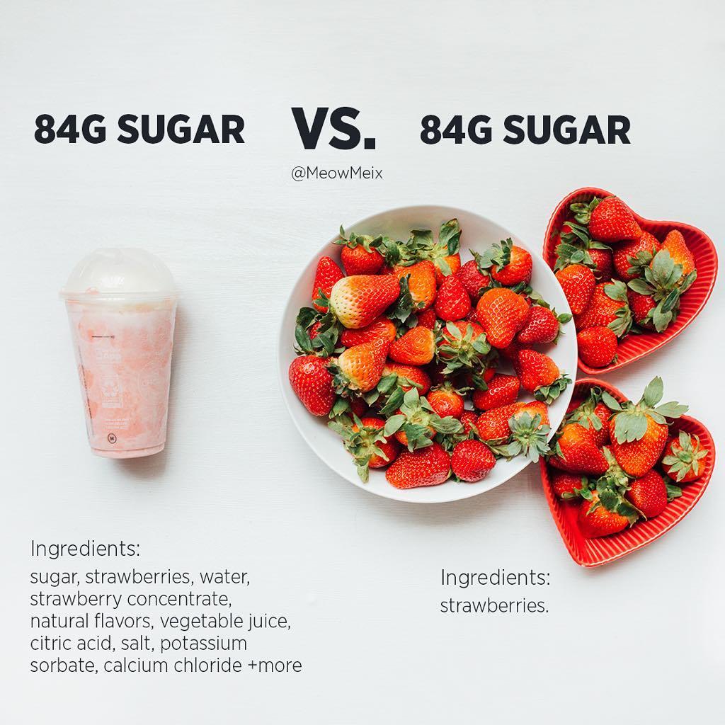 画像1: Amanda MeixnerさんはInstagramを利用しています:「Sugar vs. sugar  I know I'm team right side most of the time but left is fine if you want to TREAT yourself  . This is just a friendly…」 www.instagram.com