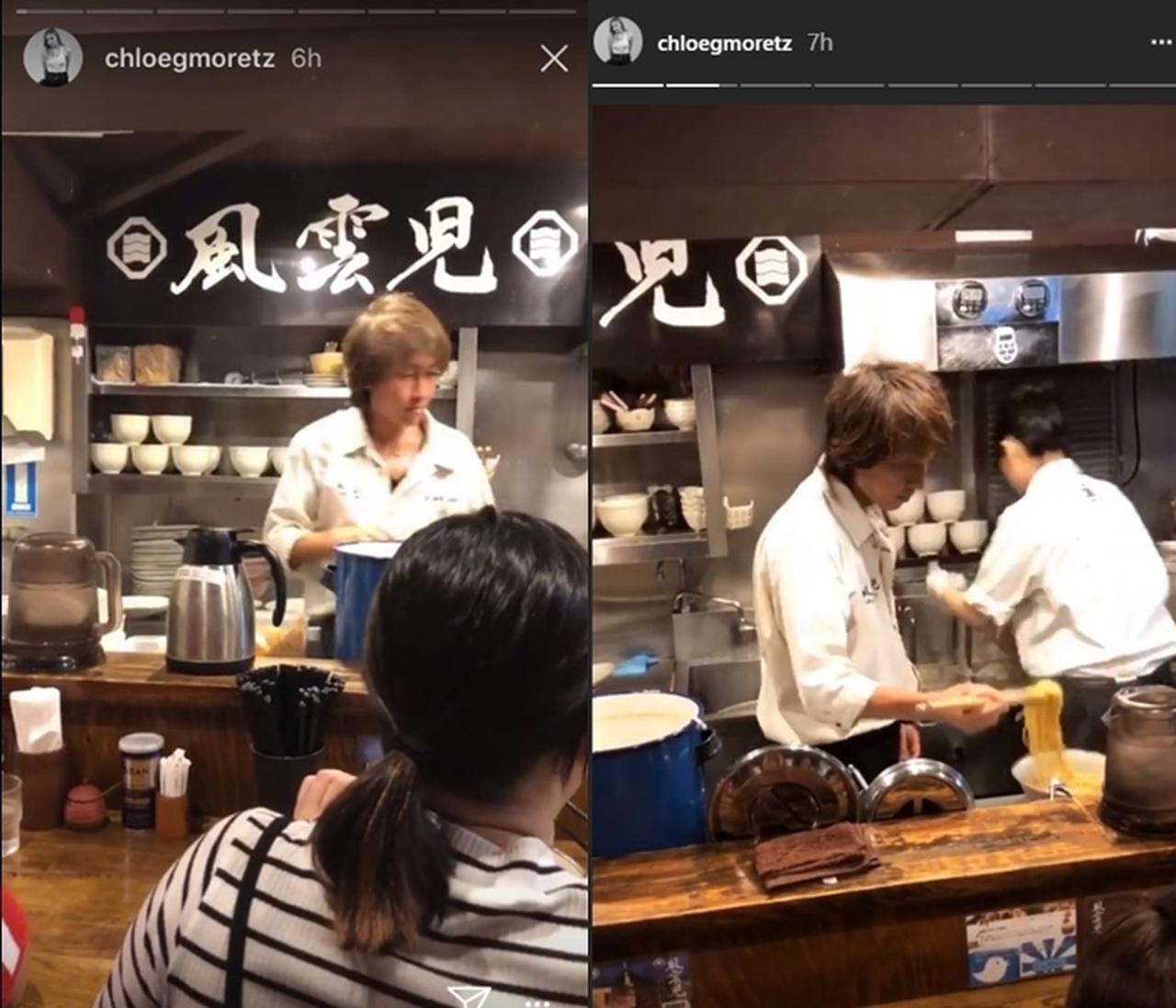 画像: 調理中の店員をじっくり観察。©Chloe Moretz/ Instagram
