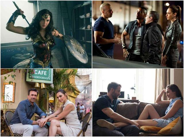 画像: (左上から時計まわりに)『ワンダーウーマン』、『ワイルド・スピード MAX』、『クリミナル 2人の記憶を持つ男』、『Mr.&Mrs.スパイ』