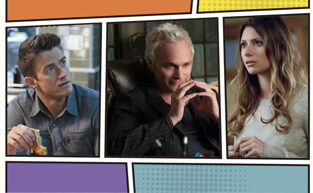 画像: (左から)メイジャー役のロバート、ブレイン役のデイヴィッド、ペイトン役のアリソン。