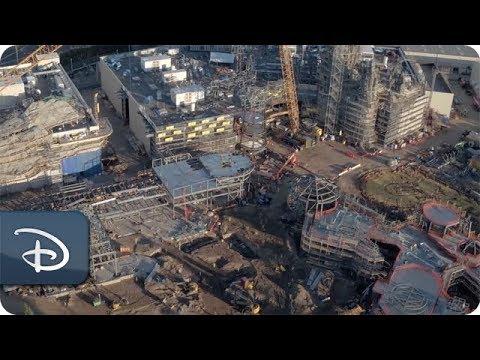 画像: Flyover the Star Wars: Galaxy's Edge Construction Site | Disney Parks www.youtube.com