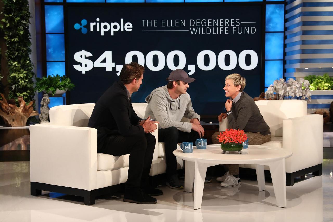 画像: ビジネスパートナーのガイ・オザリーと共同経営する会社「リップル(ripple)」の名で寄付をすることを発表。