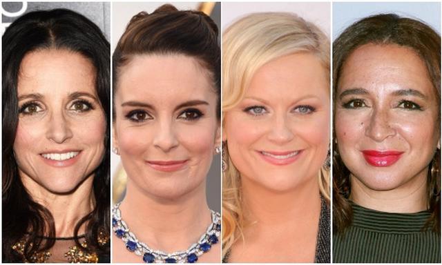 画像: (左から右へ)ジュリア・ルイス=ドレイファス、ティナ・フェイ、エイミー・ポーラー、マーヤ・ルドルフ。©スプラッシュ/アフロ
