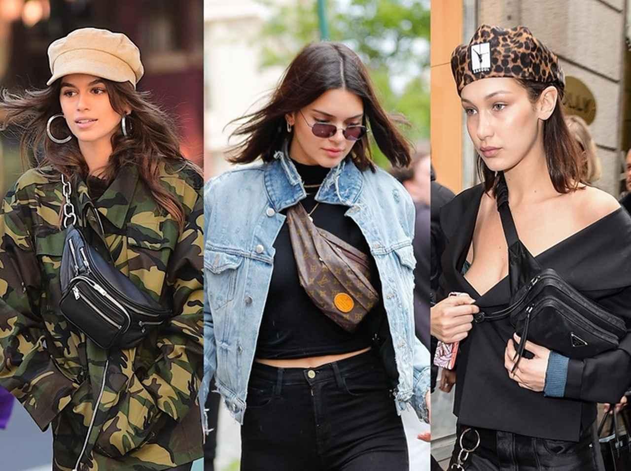 画像: 左から、人気モデルのカイア・ガーバー、ケンダル・ジェンナー、ベラ・ハディッド。