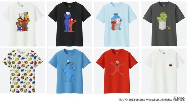 画像1: ユニクロ、KAWS×セサミストリートのコラボコレクション発売!