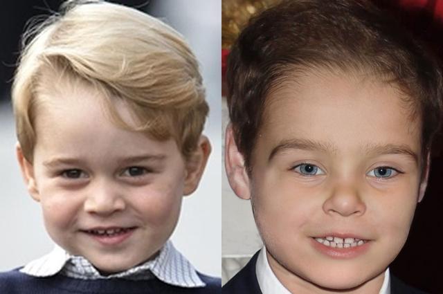 画像: 左:ジョージ王子、右:ジョーの分析による予想