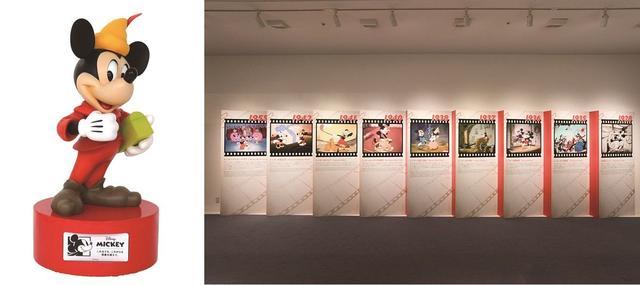 画像: ミッキーマウスのMovie Historyパネル展示や立体像がお出迎え!