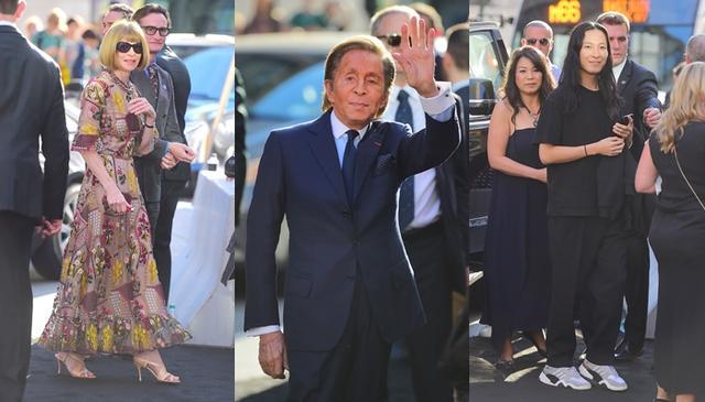 画像: 左から:米VOGUE誌の編集長アナ・ウィンター、ファッションデザイナーのヴァレンティノ・ガラヴァーニ、アレキサンダー・ワン
