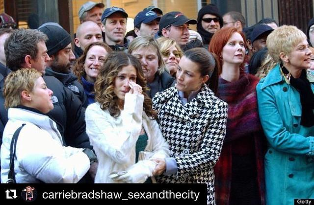 画像1: @iamkristindavis - Instagram:「I guess today is the actual 20 th Anniversary of the first airing of Sex and the City. I 'll post more pics , but i like this one of of the…」 www.instagram.com