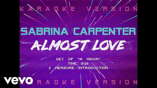 画像: Sabrina Carpenter - Almost Love (Official Lyric Video) emea01.safelinks.protection.outlook.com