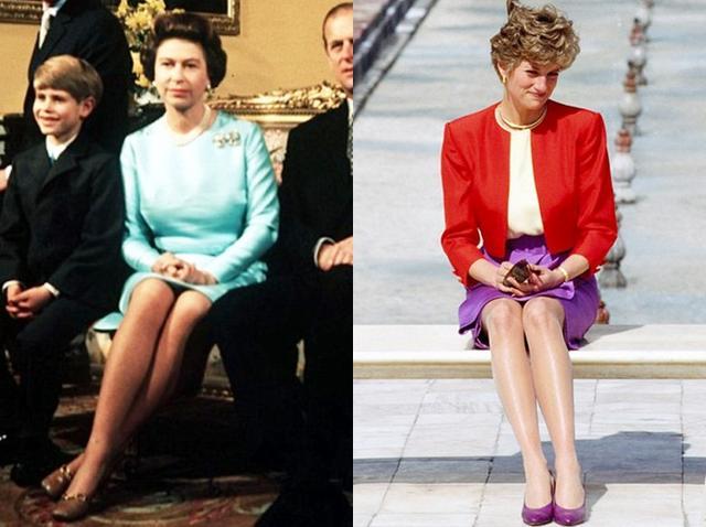 画像: 左:エリザベス女王(1972年撮影)、右:故ダイアナ妃(1992年撮影)