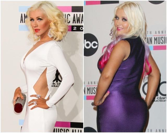 画像: 体重の増減を繰り返してきたクリスティーナ。2012年と2013年のわずか1年でこの違い。