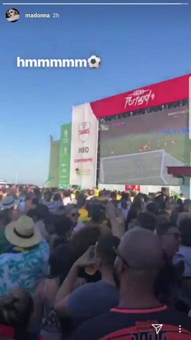 画像: マドンナ、ワールドカップを観戦した場所が意外すぎる