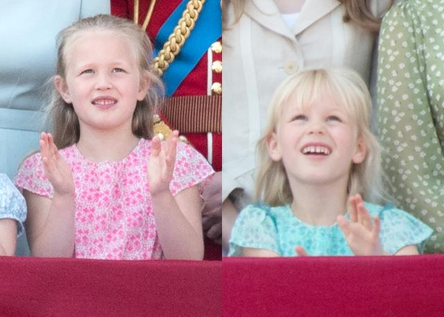 画像: エリザベス女王の長女アン王女の長男ピーター・フィリップスの長女サバンナ(7)、次女アイラ(6)。
