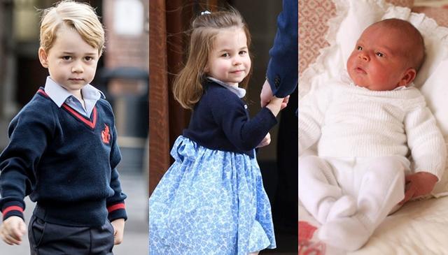 画像: エリザベス女王の長男チャールズ皇太子の長男ウィリアム王子と妻キャサリン妃の長男ジョージ王子(4)、長女シャーロット王女(3)、次男ルイ王子(0)。