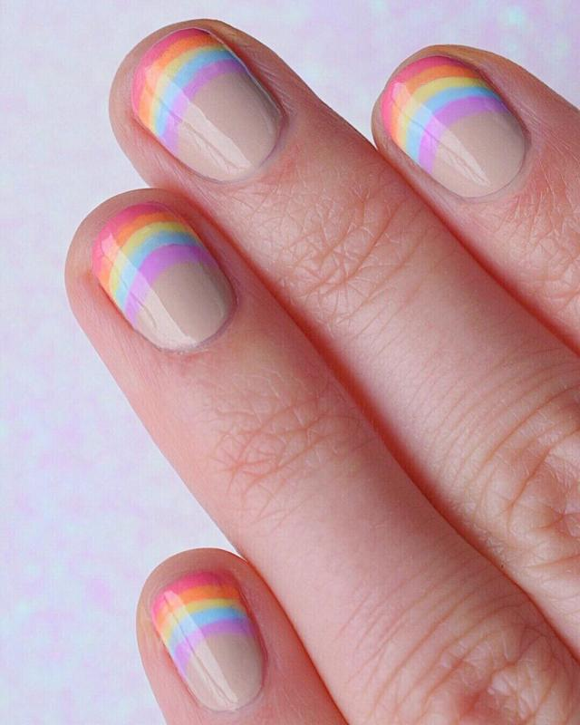 画像1: Kara Summers CrevierさんはInstagramを利用しています:「Can't get enough of rainbows right now  I'm making an effort to try more new nail colors! All of these are from the new…」 www.instagram.com