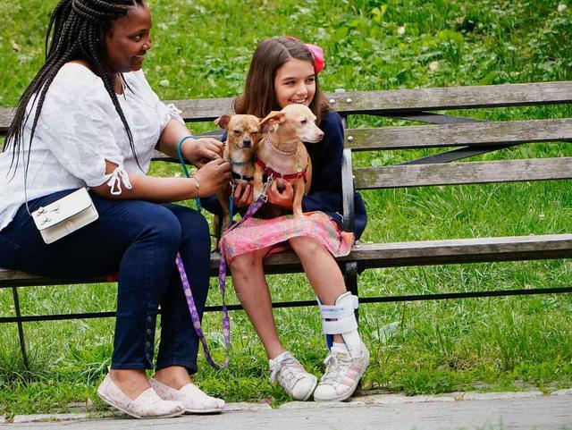 画像3: トム・クルーズの愛娘スリちゃん、犬と遊ぶ姿が愛らしい