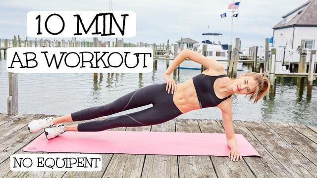 画像: 10 Minute Model Ab Routine | Model Workouts | Sanne Vloet www.youtube.com