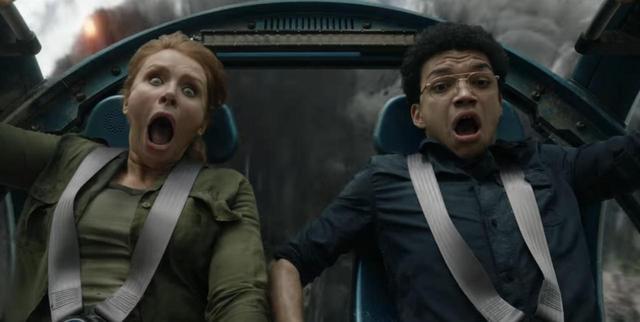 画像: クレア役のブライス・ダラス・ハワードとフランクリン役のジャスティン・スミス。