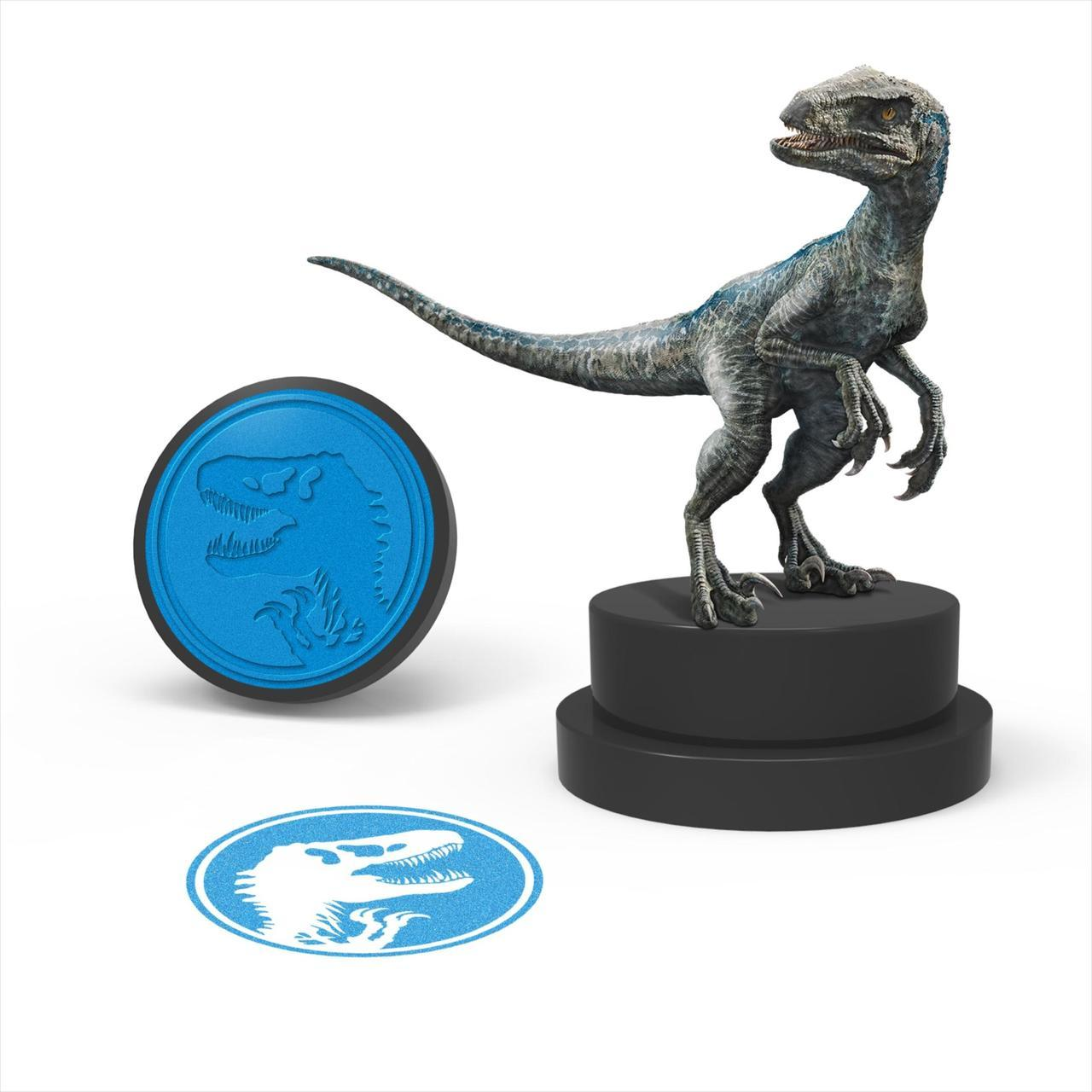 画像2: 恐竜ブルーがモチーフのオリジナルスタンプ