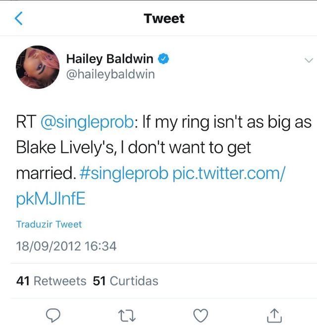 画像: ヘイリー・ボールドウィンの婚約指輪に隠された「ブレイク・ライブリー」との意外な接点