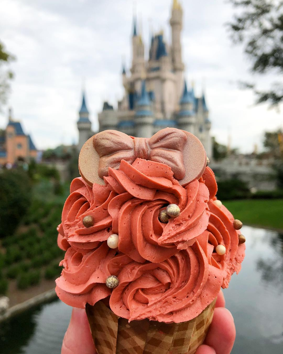 画像1: Thomas RadzakさんはInstagramを利用しています:「There's now a Rose Gold Ears Cupcake available at MK! You can find it at Main Street Bakery.  #rosegoldminnieears #rosegoldcupcake…」 www.instagram.com