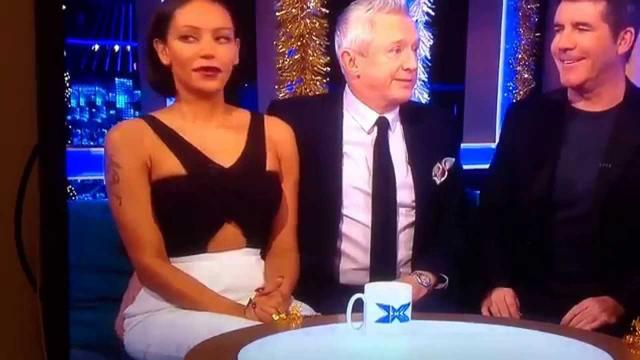 画像: Louis Walsh enjoying Mel B bum on the xfactor www.youtube.com