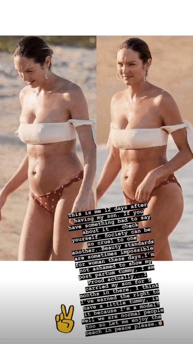 画像1: キャンディス・スワンポール、産後12日のビキニ姿を批判され一喝「むしろ誇りに思う」