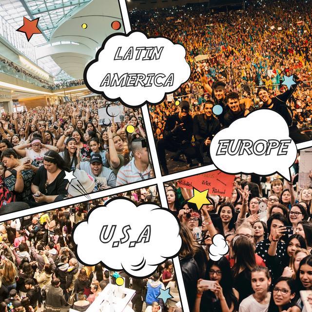 画像: 南米、ヨーロッパ、アメリカと、どこに行ってもCNCOwnersの群衆が。©CNCO/Facebook