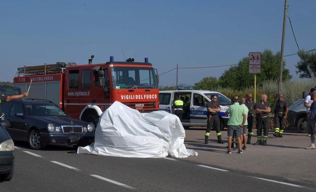 画像: ジョージの事故現場の写真。