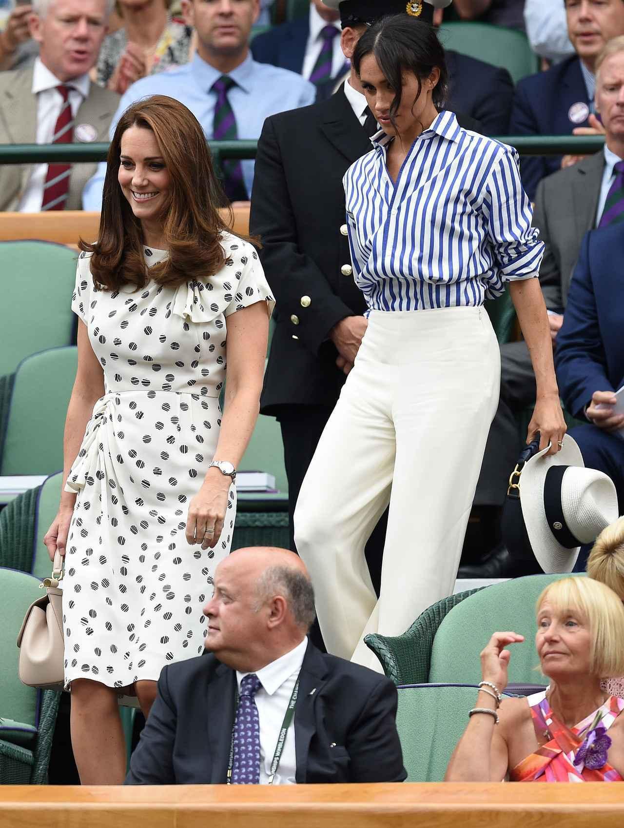 画像1: キャサリン妃&メーガン妃、テニス観戦の爽やかコーデがオシャレ
