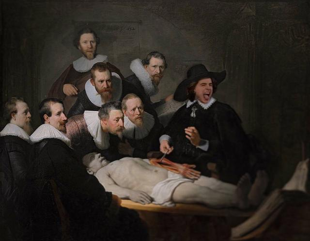 "画像1: badly photoshopped timmy on Instagram: ""The Anatomy Lesson of Dr. Nicolaes Tulp, 1632 by Rembrandt  #timotheechalamet #chalametinart"" www.instagram.com"