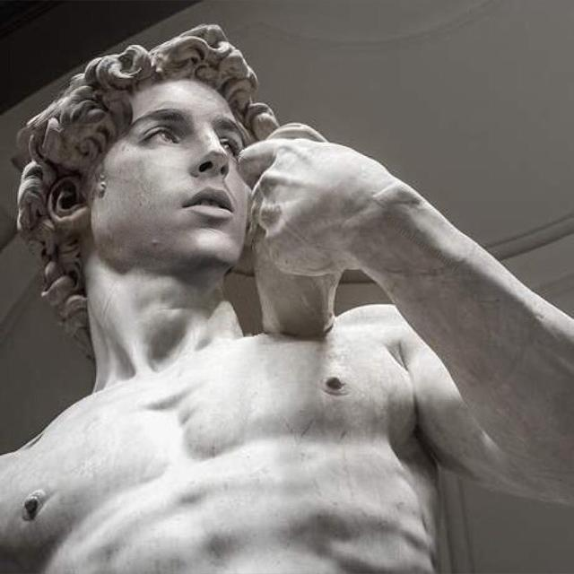 "画像1: badly photoshopped timmy on Instagram: ""David, 1501-1504 by Michelangelo #timotheechalamet #chalametinart"" www.instagram.com"