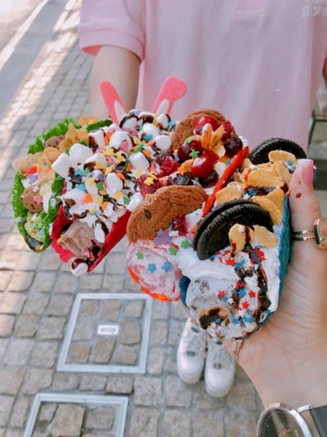 画像1: アメリカで人気の「アイスクリームタコス」が東京上陸