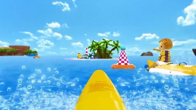 画像: ボートに乗ってレース