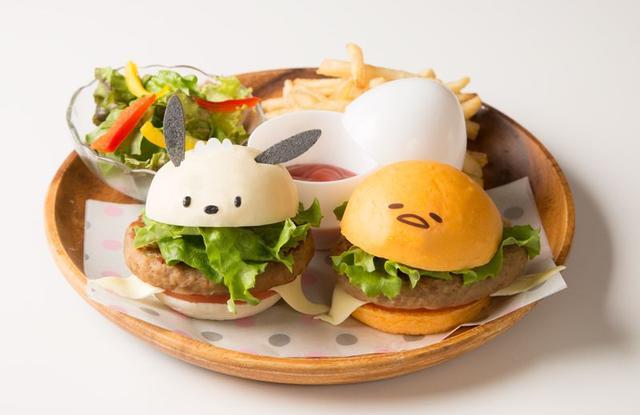 画像1: ポチャッコ×ぐでたまが初コラボ!ハンバーガーやパフェに