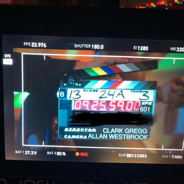 画像1: Clark GreggさんはInstagramを利用しています:「Hard at work on the show that will never ever ever reveal its code name. #agentsofshield #redactedaf」 www.instagram.com