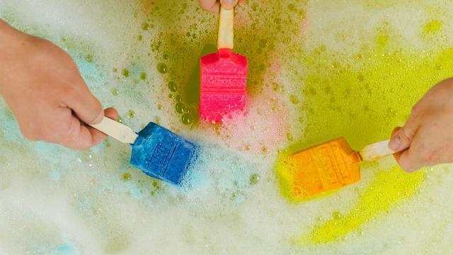 画像2: ラッシュから、お風呂にお絵描きする「バスアートコレクション」が発売!