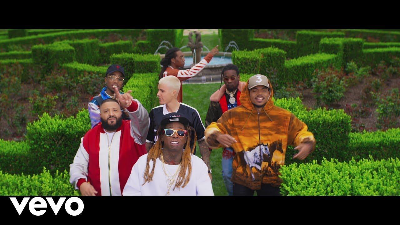 画像: DJ Khaled - I'm The One ft. Justin Bieber, Quavo, Chance the Rapper, Lil Wayne www.youtube.com