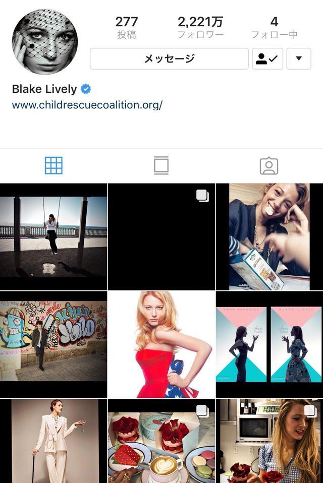 画像: ブレイク・ライブリーのインスタグラム・アカウントには、今では過去の写真がすべて復活している。