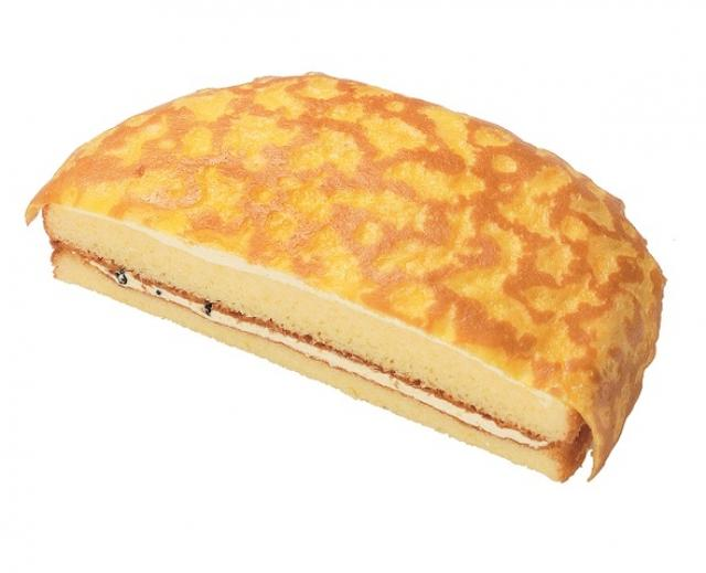画像: VLクレープケーキ(チョコチップ入りバナナクリーム)本体価格100円(税込108円)