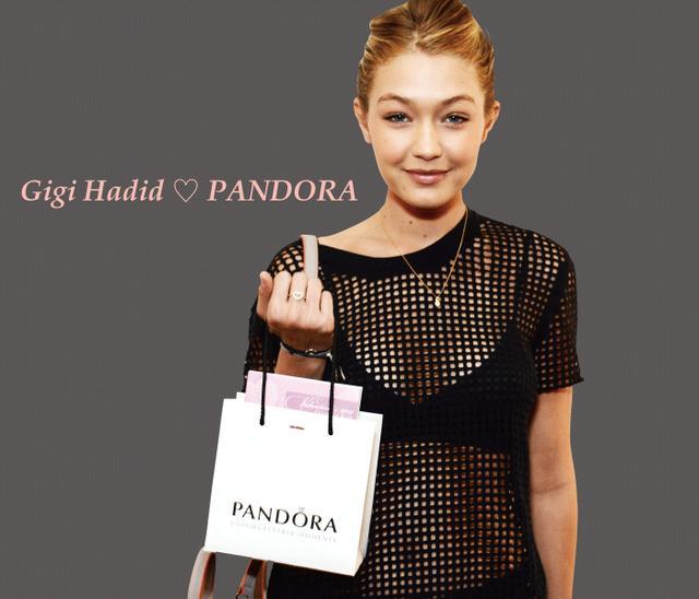 画像: 人気トップモデルのジジ・ハディッドは PANDORAのハートモチーフを愛用